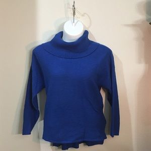 True Blue Cowl Neck Sweater